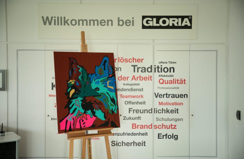 Wanderausstellung der Diakonie Stiftung Salem bei Gloria in Wadersloh